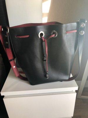 Zara Basic Buideltas zwart-donkerrood