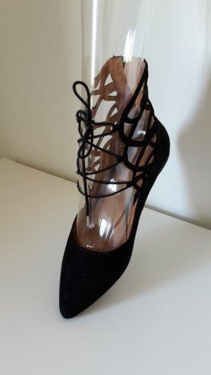 H&M Sandales à talons hauts et lanière noir