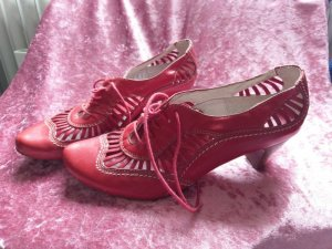 Lace-up Pumps red leather