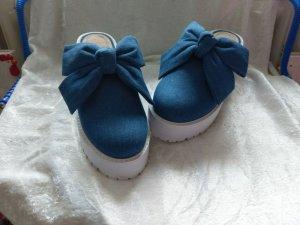 Asos Heel Pantolettes blue mixture fibre