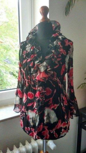 KRISS Ruche blouse veelkleurig