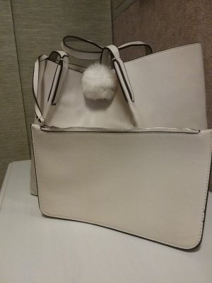 Zara Shopper natural white imitation leather