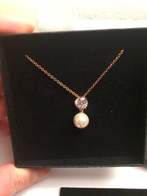 Wunderschöne Silberkette mit Perle & Swarovski Zirkonia