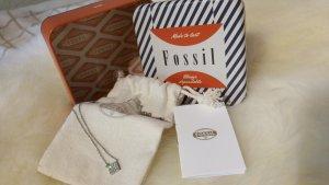 Fossil Collar color plata-gris claro