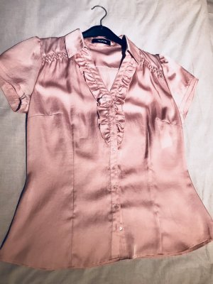 Taifun Blouse à volants or rose-gris clair polyester