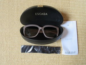 Escada Angular Shaped Sunglasses sand brown-gold-colored acetate