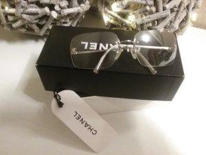 Chanel Lunettes argenté métal