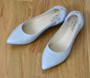 Venezia Patent Leather Ballerinas light grey