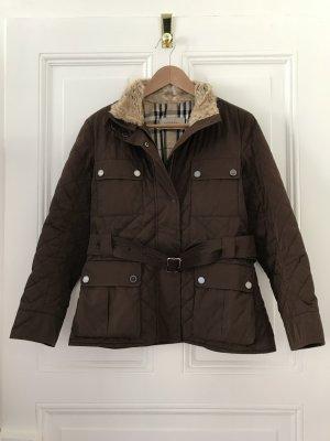 Burberry Quilted Jacket dark brown fur