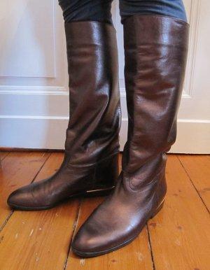 Wunderschöne Stiefel Flats von Peter Kaiser Bronze Metallic Braun Echtes  Leder Größe 40 f9ea4bd6a0