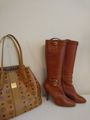 Bianco High Boots cognac-coloured