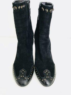 Wunderschöne Stiefelette von Giuseppe Zanotti, Geösse 39 1/2, schwarz, Leder