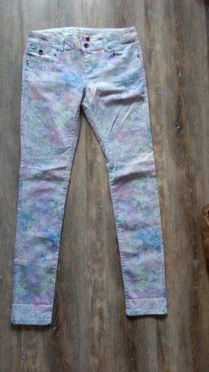 Esprit Low-Rise Trousers multicolored cotton