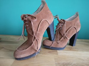 Blue Strenesse Lace Shoes cognac-coloured