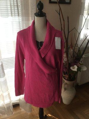 Sheego Cache-cœur en tricot violet
