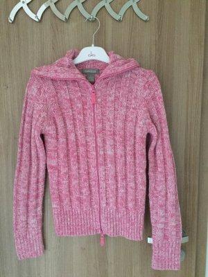 Wunderschöne Strickjacke von der Marke Kenvelo in Größe S, Farbe pink weiß