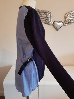 Esprit Veste en tricot bleu foncé-bleu azur coton