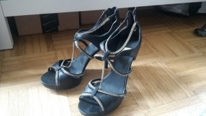 Guess by Marciano High Heel Sandal black-gold-colored leather