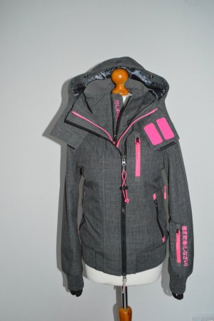 Superdry Sports Jacket dark grey-magenta polyester