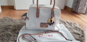 Guess Carry Bag camel-white imitation leather