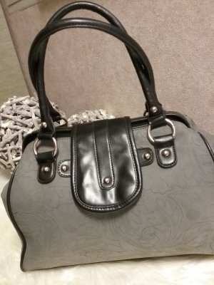 Bowling Bag grey-black imitation leather