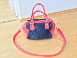 Un Deux Trois Bowling Bag multicolored imitation leather