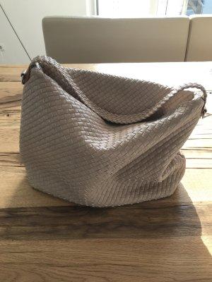 Handbag cream-oatmeal imitation leather