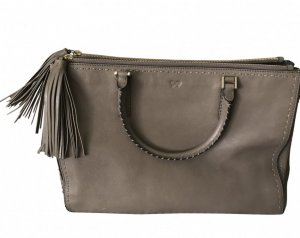 Anya hindmarch Handbag grey brown-light brown leather