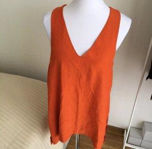 Wunderschöne Topshop Tunika S 36 34 Überwurf Longtop Rot Orange Bluse TOP!