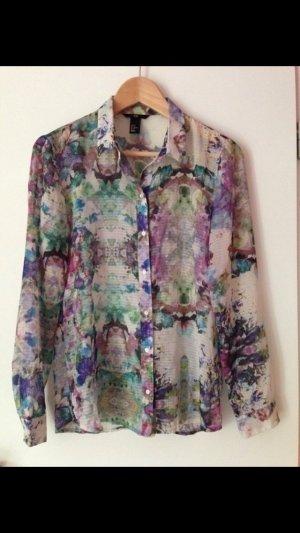 Wunderschöne transparente Bluse mit Blumenmuster von H&M