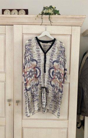 Zara Blusa de túnica multicolor Seda