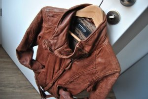 Wunderschöne u. weiche Lederjacke in rostbraun (NEUwertig!) Designerlederjacke von Oakwood