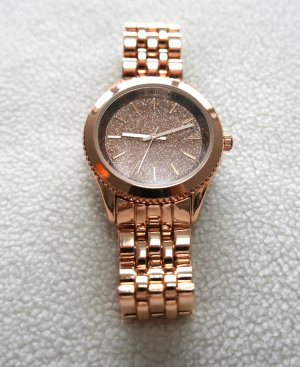 New Look Montre avec bracelet métallique or rose