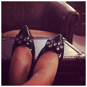 Wunderschöne Unis Ballerinas Schuhe Lackleder 38 Top