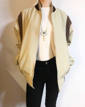 Vintage Blouson crema-marrone