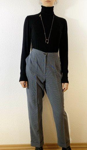 Vintage Pantalón de pinza blanco-azul oscuro