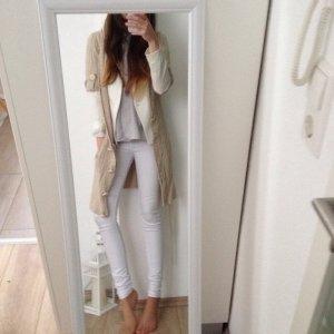 Wunderschöne warme Strickjacke Pepe Jeans beige nude Grobstrick 36 S Wolle