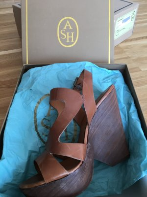 ASH Wedge Sandals brown