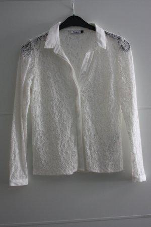 Wunderschöne weiße Spitzenbluse von Only