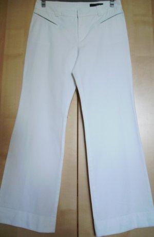 Wunderschöne weiße Stretch Sommer Marlenehose von  oui Gr. 44 Baumwolle 95%