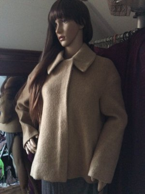 COS Winter Jacket sand brown mixture fibre