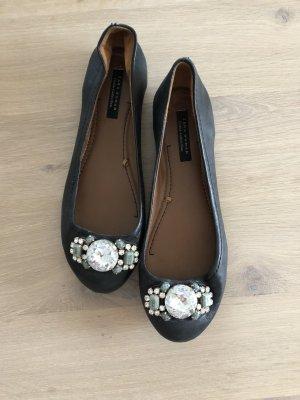 Zara Ballerines noir-marron clair