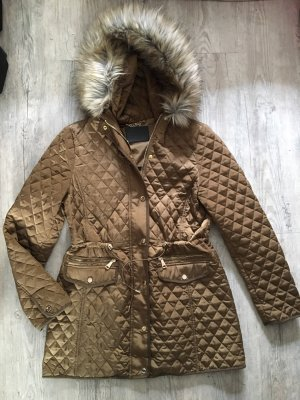 Zara Quilted Jacket bronze-colored