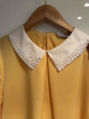 Colletto camicia bianco-giallo pallido