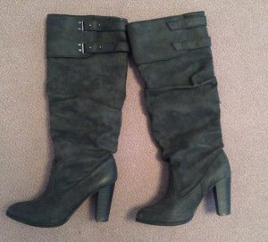Zara Heel Boots dark grey