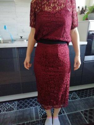 H&M Vestido de encaje multicolor