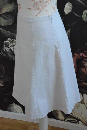 Gap Falda de talle alto blanco