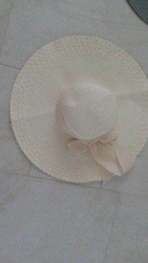 Chapeau de soleil crème-brun sable