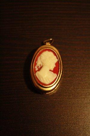 Colgante rojo ladrillo-blanco