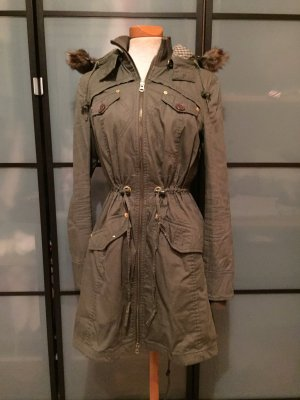 Armani Exchange Trenchcoat groen-grijs